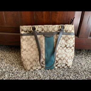 brown coach purse, lightly used